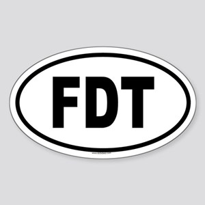 FDT Oval Sticker